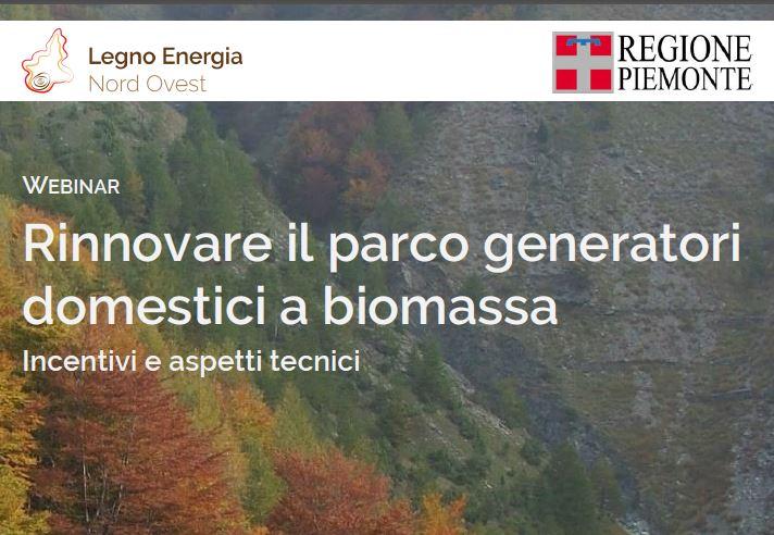 Regione Piemonte: sostituzione di generatori a biomassa legnosa